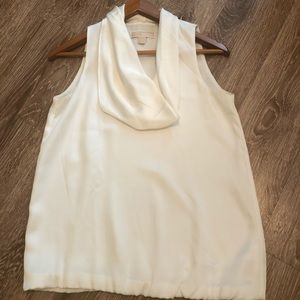 Michael Kors Silk Cowl Neck Sleeveless Blouse